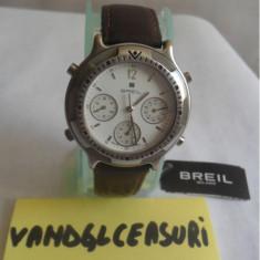 Breil Milano Chronograph Swiss Made Stainless Steel In Cutie & Acte - Ceas barbatesc Breil, Elegant, Quartz, Otel, Piele, Cronograf