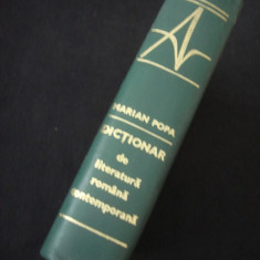 MARIAN POPA - DICTIONAR DE LITERATURA ROMANA CONTEMPORANA {1971}