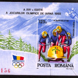 1992 Olympic games Albertville (Bob) LP 1276 COLITA NDT ** MNH IMPECABILA - Timbre Romania, Sport, Nestampilat