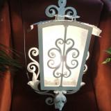 lampadar,lampa,felinar de perete din fier forjat