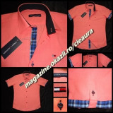 CAMASA BARBATEASCA IN CORAI GEN FIRMA TOMMY HILFIGER MANECA SCURTA REGULAR FIT