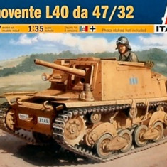 + Macheta Italeri 6477 1:35 - Semovente L40 da 47/32 + - Macheta auto