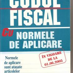 (C3945) CODUL FISCAL CU NORMELE DE APLICARE IN VIGOARE DE LA 01.06.2005, EDITURA BIC ALL, 2005 - Carte Drept financiar
