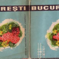 Harta Bucuresti anii 70-dimensiuni 45 cm/90