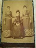 Fotografia unei doamne de onoare a Reginei Elisabeta a Romaniei  - 1898  -  Studioul Max Schawarz  -  Bucuresti - Calea Grivitei 37