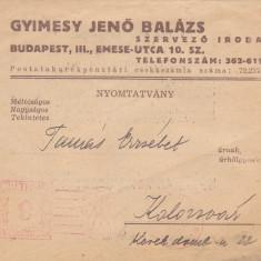 Document , Act  Cluj in limba maghiara din anii '40 Comanda si plata carti