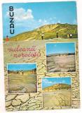 Carte postala(marca fixa)--BUZAU-vulcani noroiosi, Necirculata, Printata