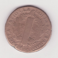 MONEDA FRANTA (PREREVOLUTIOANARA) - LUDOVIC AL XVI-LEA - 2 SOLS 1791 - Moneda Medievala, Europa