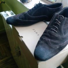 Pantofi zara, palton ringspun - Pantofi barbat Zara, Marime: 44, Culoare: Maro