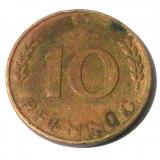 G2. GERMANIA RFG 10 PFENNIG 1950 G **, Europa