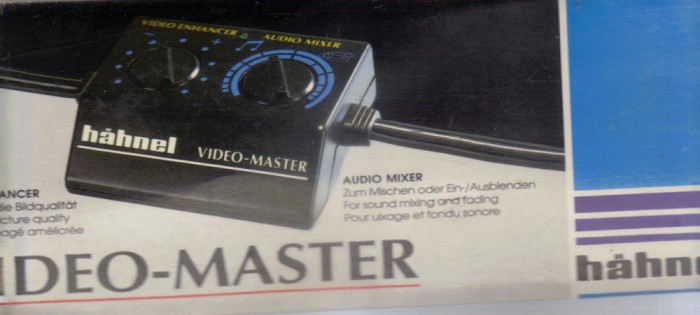 HAHNEL - VIDEO MASTER - VIDEO ENHANCER / AUDIO MIXER 240V