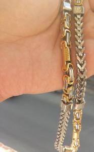 Lant  Inox Placat cu Aur Model Nou!!!