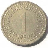 G2. IUGOSLAVIA / YUGOSLAVIA 1 DINAR 1990 **, Europa