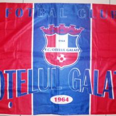 Steag fotbal Otelul Galati, panza groasa, 90x58 cm, De club