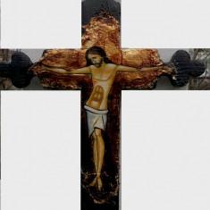 Crucifix - Icoana cu foita de aur