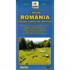 Grai Harta Romania - Trasee turistice rutiere - Harta Turistica