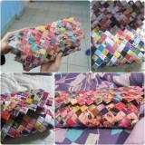 Geanta plic hand-made - Geanta Dama, Multicolor, Nilon, Medie