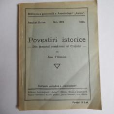 POVESTIRI ISTORICE DIN TRECUTUL ORASULUI CLUJ- ION FILIMON,1935
