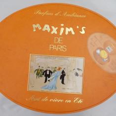 SET - FLORI USCATE ȘI PARFUM AMBIENTAL PENTRU BAIE, MAXIM'S DE PARIS, 1993! - Set parfum