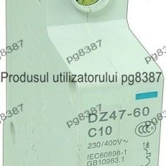 Siguranta automata, 10A, cu fixare pe sina DIN, Disjunctor 10A, cu fixare pe sina DIN-111880 - Tablou electric si siguranta