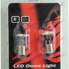 Set 2 becuri auto cu LED-uri, 12V, pentru plafoniera, pozitie, lumina alba-118228 - Led auto