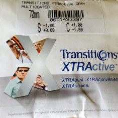 Lentile heliomate Transitions Xtractive gri / lentile ce se inchid in masina