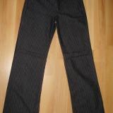 SUPER OFERTA !!! Blugi / Jeans dama GUESS, 100% ORIGINALI, model f frumos, negri cu dungi albe, mar. 27, NOI !!! - Blugi dama Guess by Marciano, Culoare: Negru, Evazati, Lungi, Joasa