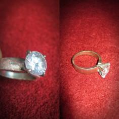 Deosebit inel vintage cu piatra de cristal. Marimea 55mm Este confectionat din bronz. - Inel fashion