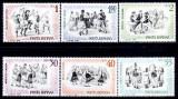 Romania 1966 - Dansuri populare,serie completa neuzata