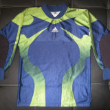 Bluza portar / fotbal Adidas cu aparatori coate; marime S: 55.5 cm bust etc.