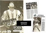 Revista SPORT - 1991 : reportaje despre MARADONA si LOTHAR MATTHAUS