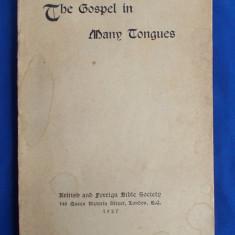 EVANGHELIA IN MAI MULTE LIMBI [ THE GOSPEL IN MANY TONGUES ] - LONDRA - 1927