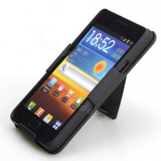 Toc prindere curea silicon rigid Samsung galaxy s2 i9100 + folie ecran expediere gratuita - Husa Telefon