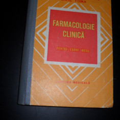 FARMACOLOGIE CLINICA- PENTRU CADRE MEDII- AL. DUMINICA MOISESCU - Carte Farmacologie