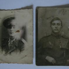 2 FOTOGRAFII MILITARI ROMANI DIN PERIOADA REGALISTA - Fotografie veche