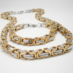 Set Lant+Bratara Inox!!! Model nou de Inchizatoare!!!! - Set bijuterii inox