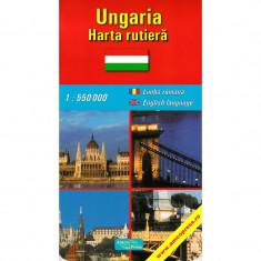 Amco Press Harta Ungaria Rutiera - Harta Turistica