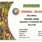bilet de meci-ROMANIA - BELGIA 14 noiembrie 2012