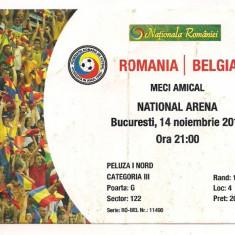 Bilet de meci-ROMANIA - BELGIA 14 noiembrie 2012 - Bilet meci