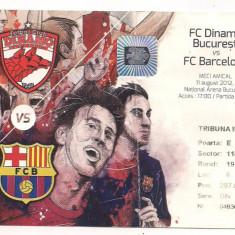 Bilet de meci-FC Dinamo Bucuresti-FC Barcelona 11 august 2012 - Bilet meci