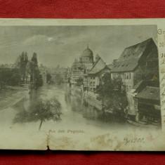 Carte postala - Gruss aus Nurnberg 1900 !!!, Circulata, Printata