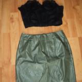 Outfit fusta din piele si corset
