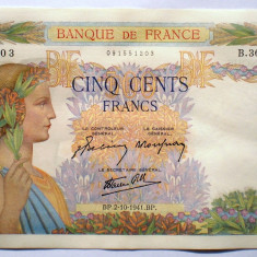 78. FRANTA 500 FRANCS FRANCI 02.10.1941 SR. 203