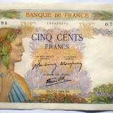 89. FRANTA 500 FRANCS FRANCI 05.11.1942 SR. 394, Europa