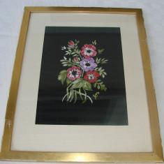 Pictura ulei pe panza, natura moarta cu flori - Tablou autor neidentificat, Realism