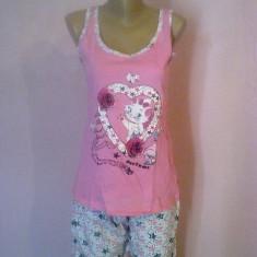 Pijama Dama Bumbac 100% - Pijamale dama, Culoare: Roz