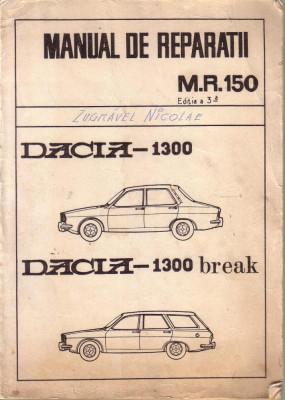 manual de reparatii dacia 1300 si dacia 1310 arhiva okazii ro rh okazii ro manual service dacia 1300 manual service dacia 1300