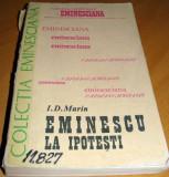 EMINESCU LA IPOTESTI - I.D. Marin