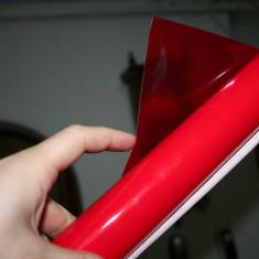 Folie transparenta stopuri/faruri/proiectoare ORACAL 8300-Rosu Deschis -50x50 cm