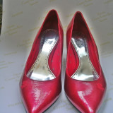 Pantofi EDC rosii, clasici - Pantof dama, Rosu, 38 2/3